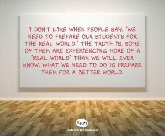 Prepare them for a better world. #THISiswhy #LeadLAP #tlap #KIdsDeserveIt #LeadUpchat #leadership #TEACHers #TeacherMyth #ChooseKind<br>http://pic.twitter.com/nglzTWBES0