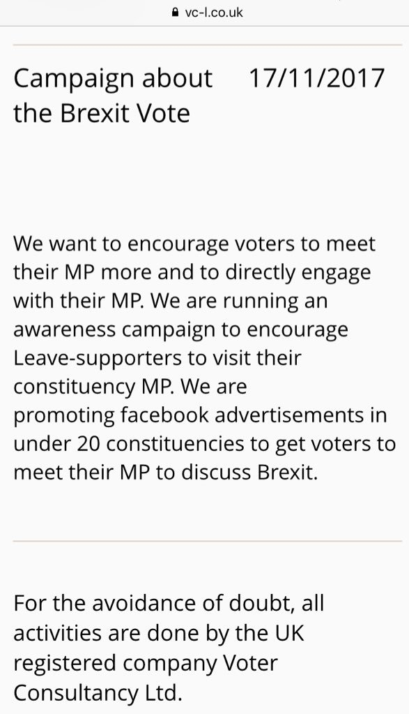 same company: ex Vote Leave Chief Tech Office @TBorwickr  and son of ex Kensington MP & Boris Mayoral deputy placing ads against 20 Tory MPs