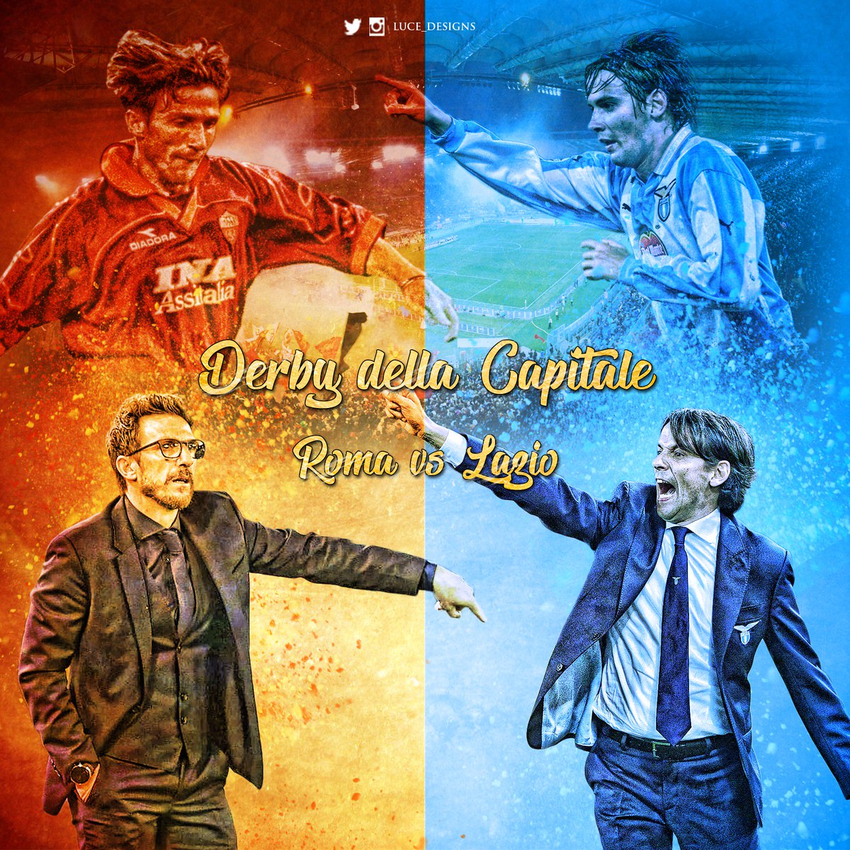 Derby della Capitale, who is going to win? @OfficialASRoma vs @OfficialSSLazio   RT&#39;s and likes appreciated!  #RomaLazio #Roma #Lazio #DerbyDellaCapitale #Derby #DerbyDay #Inzaghi #DiFrancesco<br>http://pic.twitter.com/UwqYDU4ome