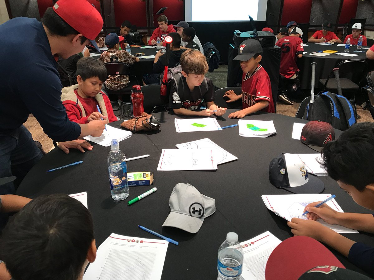 @sciencebaseball Student Camp today with the @Dbacks in the #clubhouse! Thank you #SouthMountainLittleLeague for waking up early with us to learn! <br>http://pic.twitter.com/FMLsGRXtMy