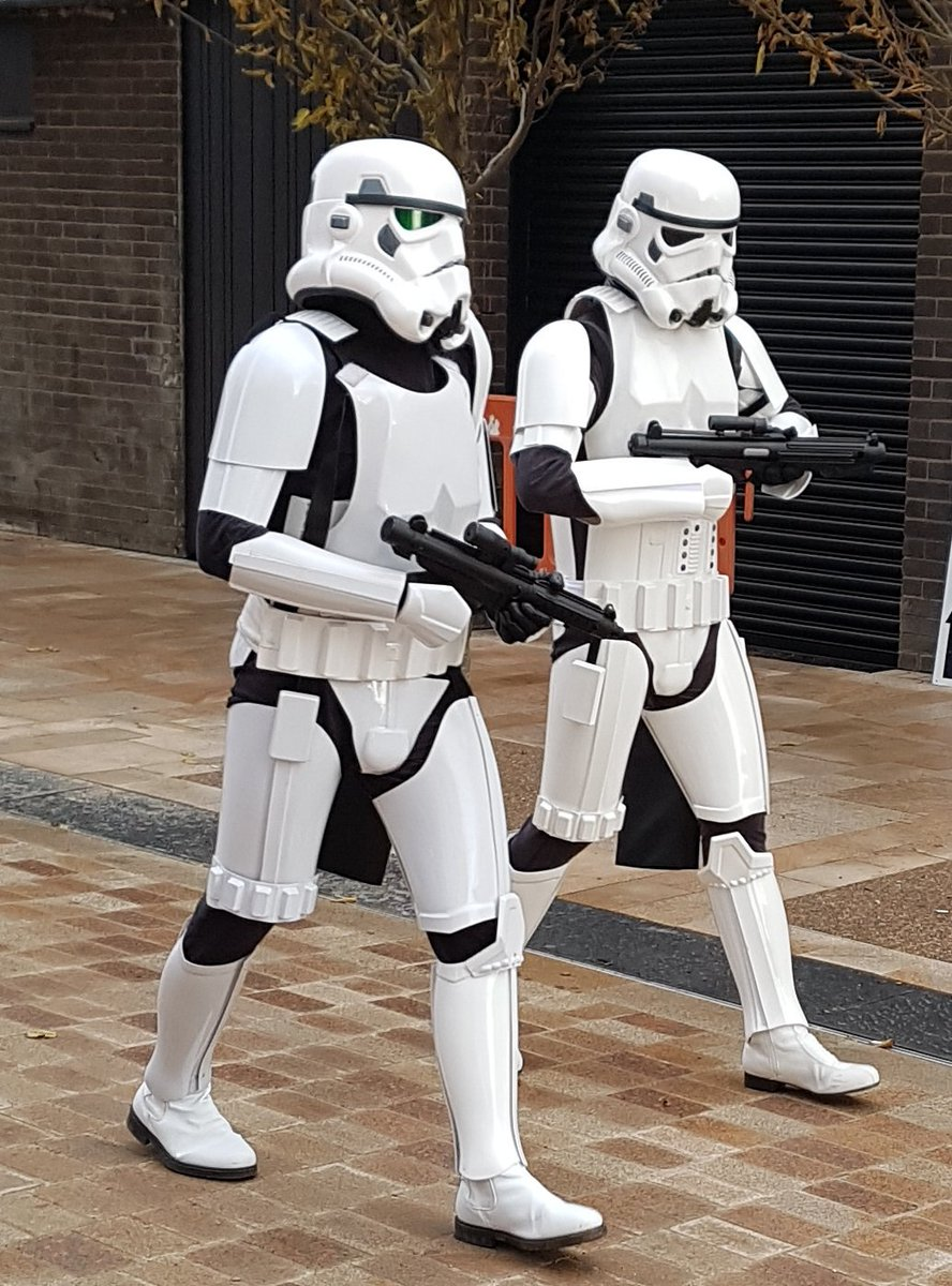 Great to see #stormtrooper in #Stockport today @Redrock_SK Looking forward to the opening of @Light_Stockport #RedrockStockport<br>http://pic.twitter.com/2BH7Cqyzwp