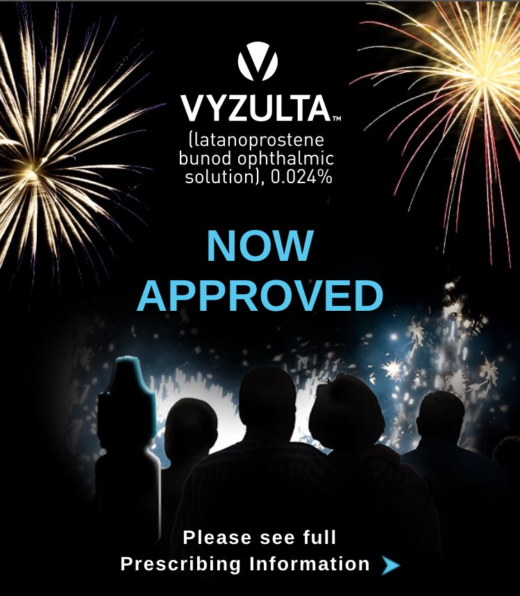 New additions to the #Glaucoma market! @BauschLomb #Vyzulta #eyecare Let&#39;s keep innovating! <br>http://pic.twitter.com/CwA6qzGLAF