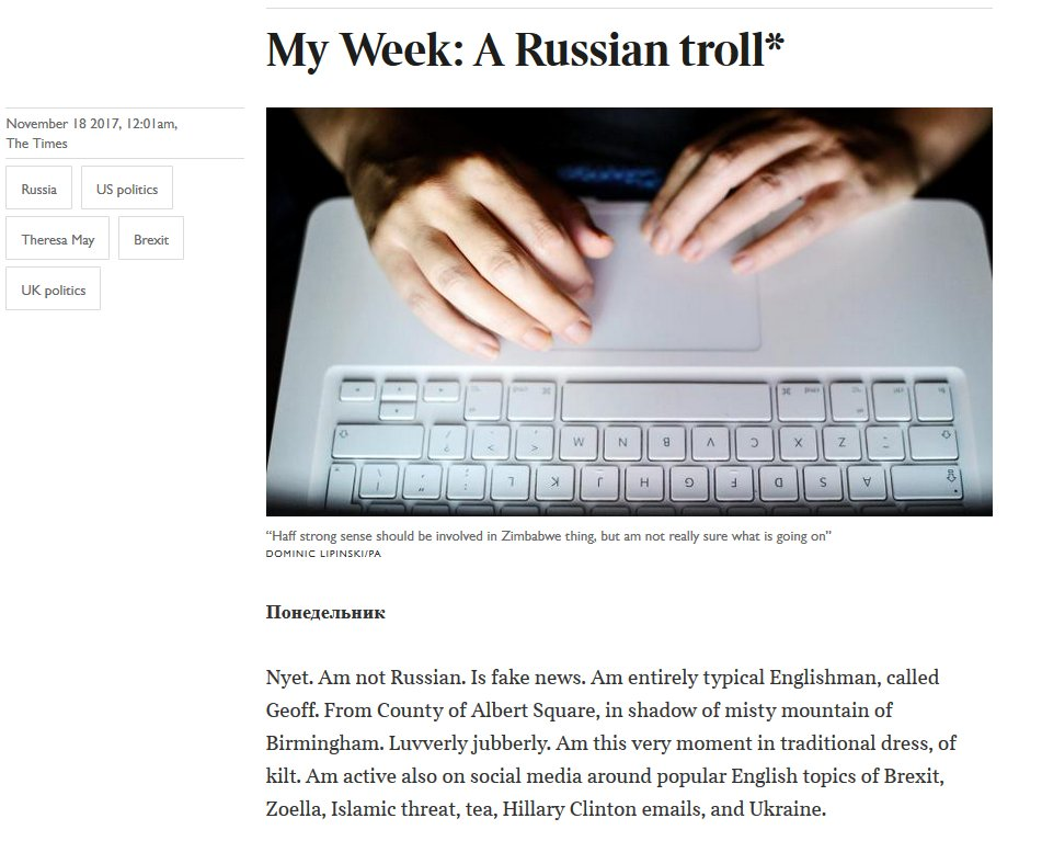 .@thetimes: Wonder if there are British trolls? Friends?