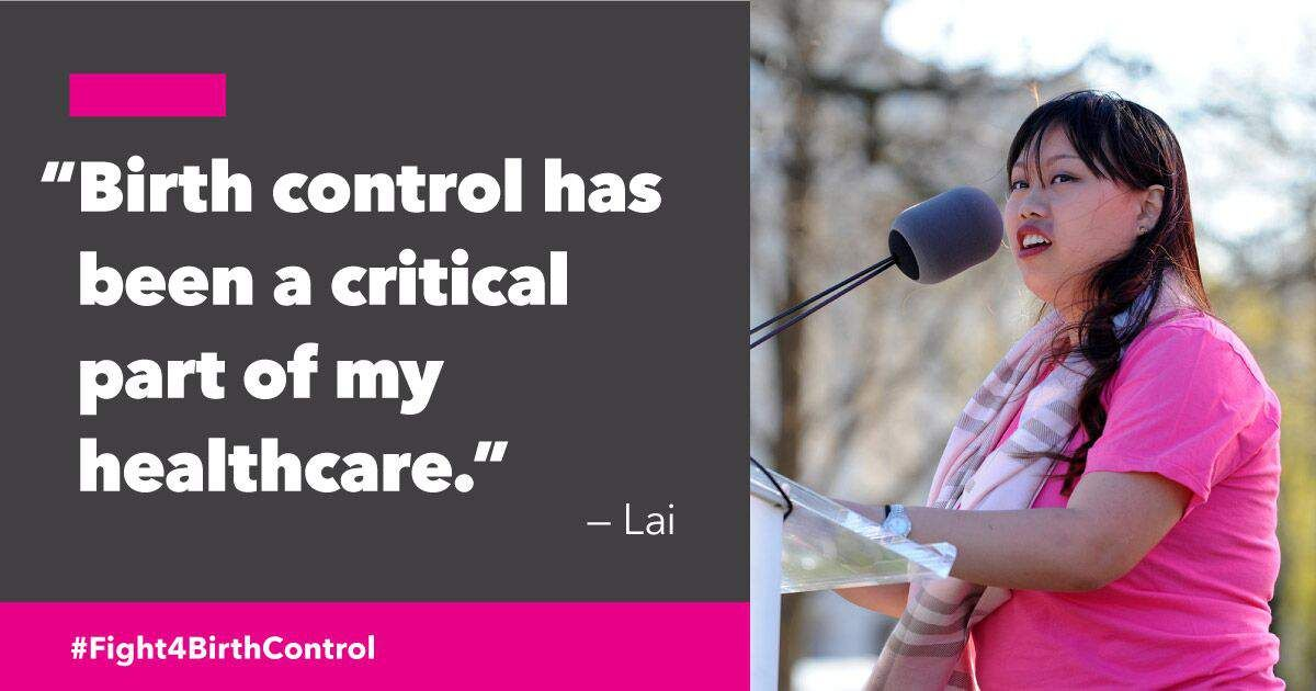 Lai is a student, a Planned Parenthood volunteer, and a patient advocate. Here's her story about how access to birth control changed her life for the better: https://t.co/muOB2xqA7g #Fight4BirthControl