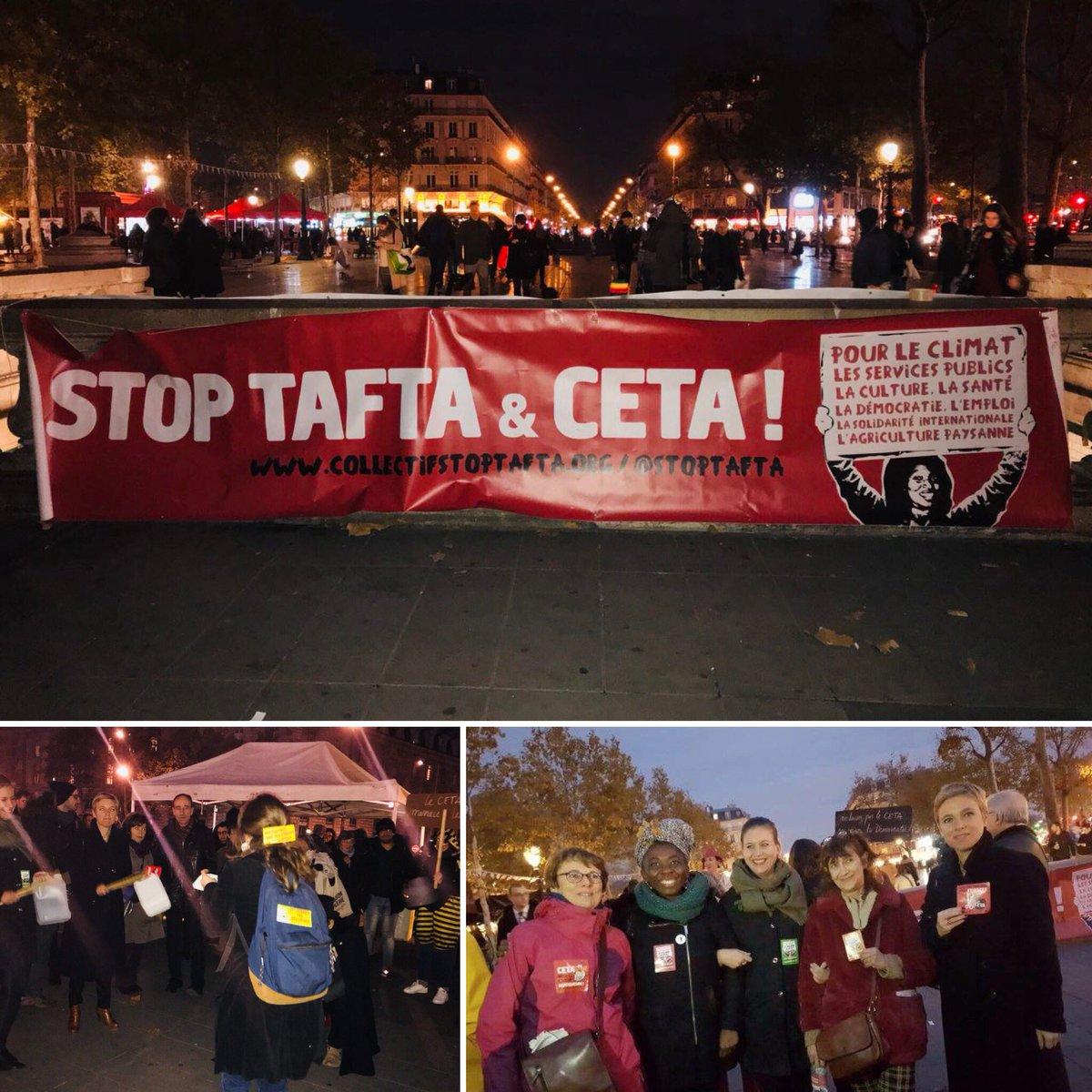 En cette fin d'après-midi, j'étais à l'initiative de @StopTAFTA pour dire non au CETA ! #ReferendumCETA pic.twitter.com/jQyDAiAgpH