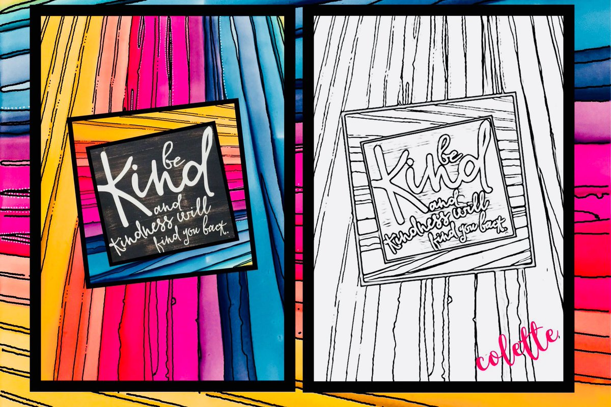 my #mixedmediaart then used @ColorscapeApp to #create #coloringpage could b awesome #artclass collaboration 2use w/student art! #digitalart<br>http://pic.twitter.com/54qWSB2SqZ