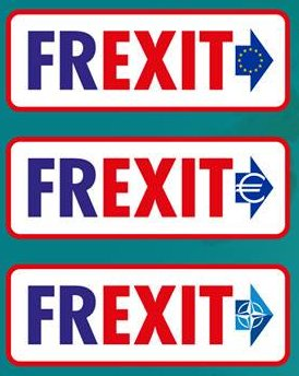 Hi Jeff The problem is among French politicians only François #Asselineau wants a True #Frexit, because that would involve actually governing!  The rest keep spewing their #bullshit PR spiel &quot;BuildANewEU&quot; etc...  Changing EU Treaties = #ImpossibleTask &gt; #UnanimousVote requirement <br>http://pic.twitter.com/vvwn6Yy9uO