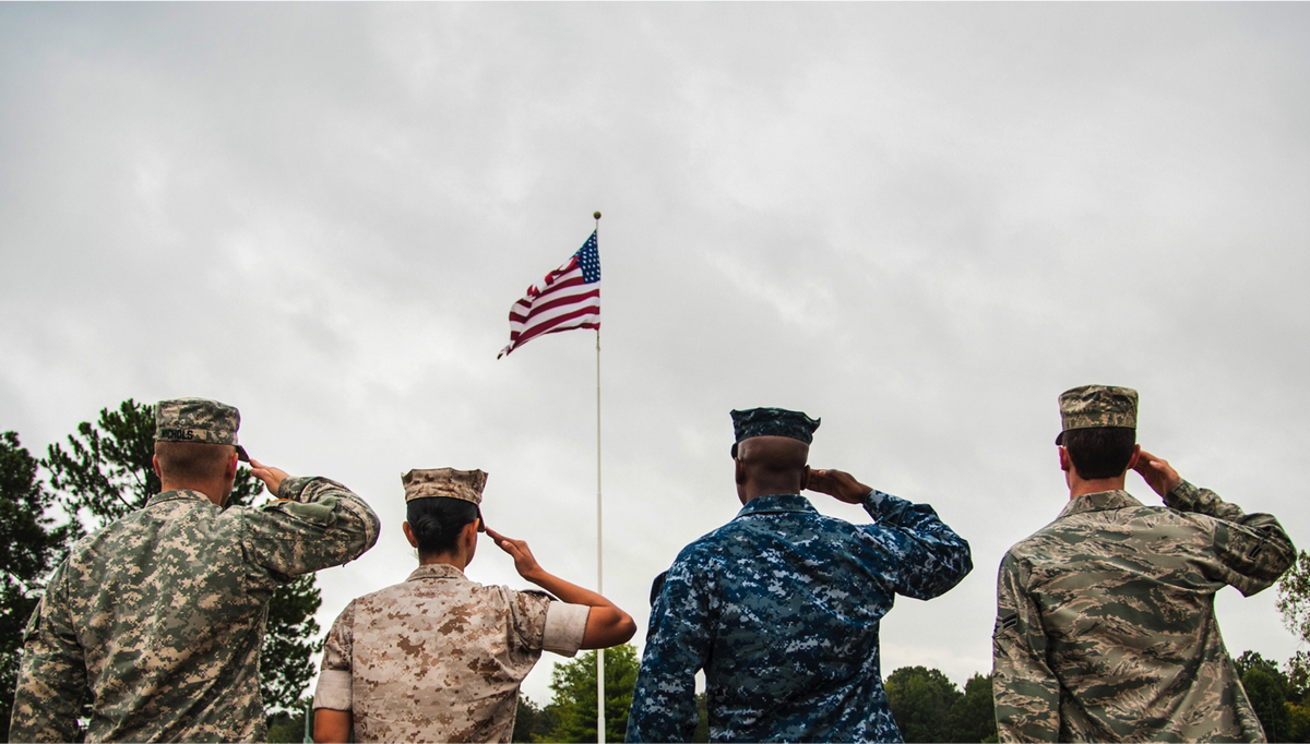 Home of the Brave.  #2017In4Words  #Soldiers #Marines #Sailors #Airmen