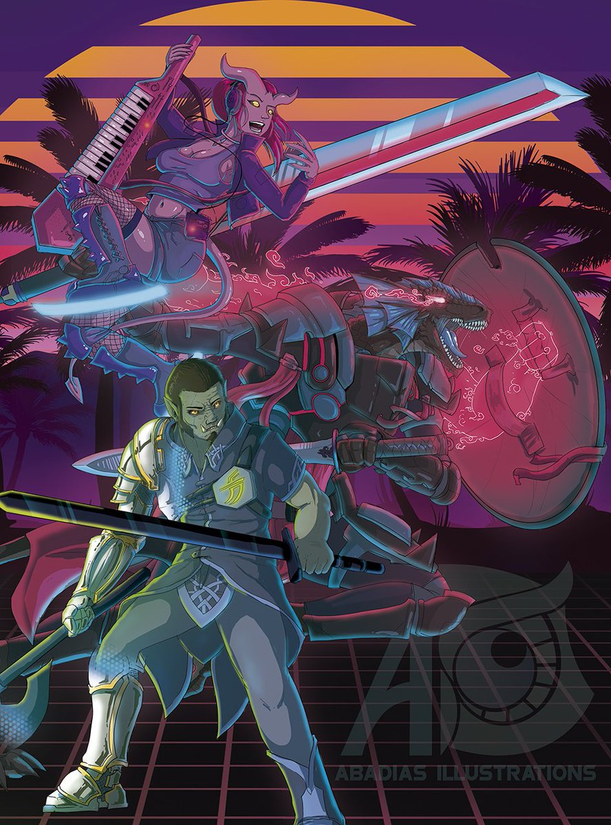 3 classes drawn, 3 more to go... at least. the #retroverse it&#39;s going to be huge! check out @snickelsox  and me to stay tuned for this game!  What kind of hero are you going to be?  #rpg #tabletoprpg #boardgames #dnd #pathfinder #starfinder #games #retro #synthwave #80s #anime<br>http://pic.twitter.com/52C7zfqIjU
