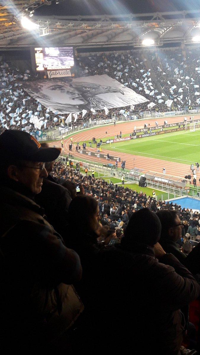 In honor of Gabriele Sandri #Lazio #Roma #choreo<br>http://pic.twitter.com/RLlkVx1oi9