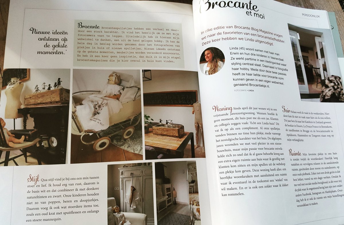 Brocante Blog magazine. Nice column about us. #brocante #brocantenlogathome #brocantiekje #column<br>http://pic.twitter.com/yDe6kpP61u