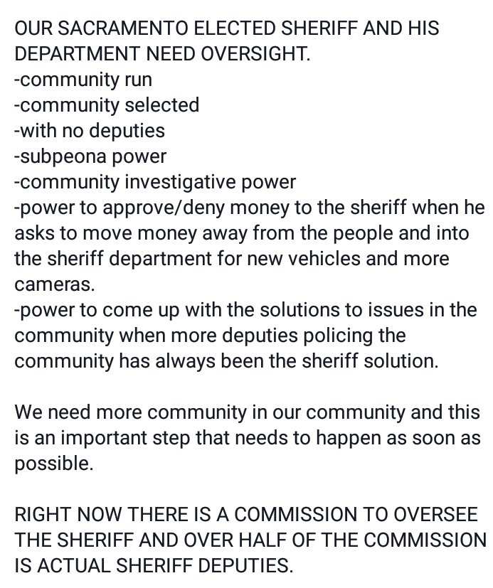 WE NEED COMMUNITY OVERSIGHT NOW!  *Investigative *Subpoena *Disciplinary ...because @sacsherrif NEEDS to be checked! #BlackLivesMatter  <br>http://pic.twitter.com/q2g6o3yzbh