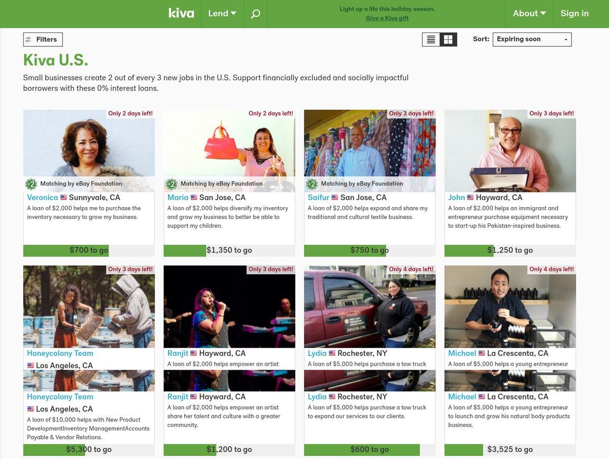 View the entrepreneurs who are fundraising today. #KivaUS #Socialcapital #Sharethewealth   http:// bit.ly/2mkmosi  &nbsp;  <br>http://pic.twitter.com/CpYeCujfNw