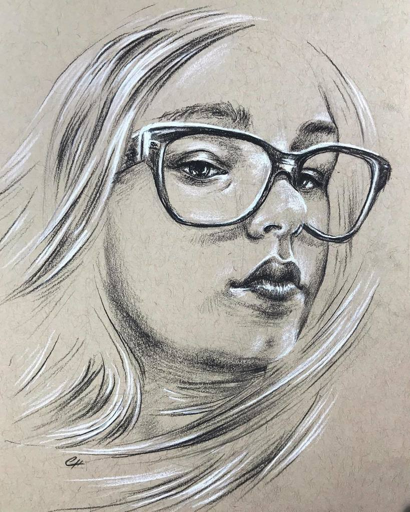 5x7 #portrait of Instagram fan @katelynn_exe #charcoalpencil #drawing #sketch #art #glasses #windswept<br>http://pic.twitter.com/2PjCeKaDV2