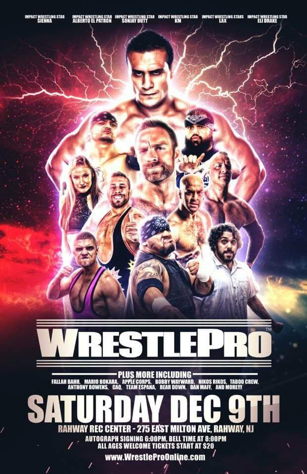 Impact Wrestling STARS LIKE @PrideOfMexico  @Sienna  / Allysin Kay @TheEliDrake  @sonjaydutterson  #LAX FOR WrestlePro IMPACT WRESTLING CAMERA&#39;S WILL BE AT WRESTLE PRO <br>http://pic.twitter.com/6LzuFTRfop
