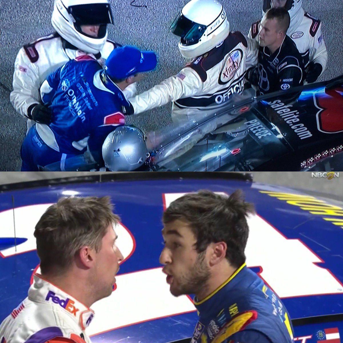 Did you know that in 2017, 100% of the sport's Elliotts got in a post-race shouting match with a JGR driver. #Wow #Fascinating<br>http://pic.twitter.com/kwYPIAqX2R