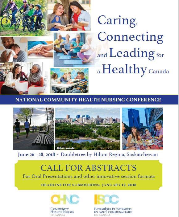 #CommunityHealthNursing conference 2018 call for abstracts  http:// chnc.ca/en/call-for-ab  &nbsp;  … - hope to see you in #Regina! @canadanurses #nurses #nursing #publicHealth #homeHealth #CommunityHealth #prevention #healthPromotion #HomeCare<br>http://pic.twitter.com/ye44sTg6p6