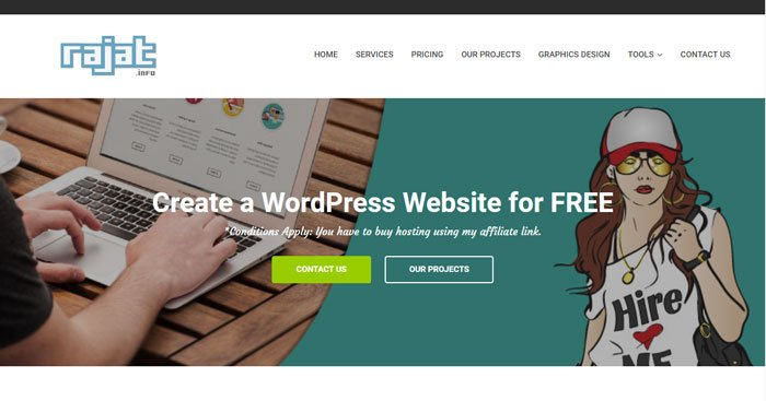 I&#39;ll create a #WordPress #Website for #FREE for you.   https:// rajat.info/wordpress-webs ite-free-offer/ &nbsp; …  *Conditions Apply: You have to buy hosting using my #affiliate link. When we reach 1000 #retweet we will #Giveaway one without conditions. #RTtoWin #Giveaway #EnterToWin #Win #GiveawayAlert #rajatinfo<br>http://pic.twitter.com/MRG2SihZHg