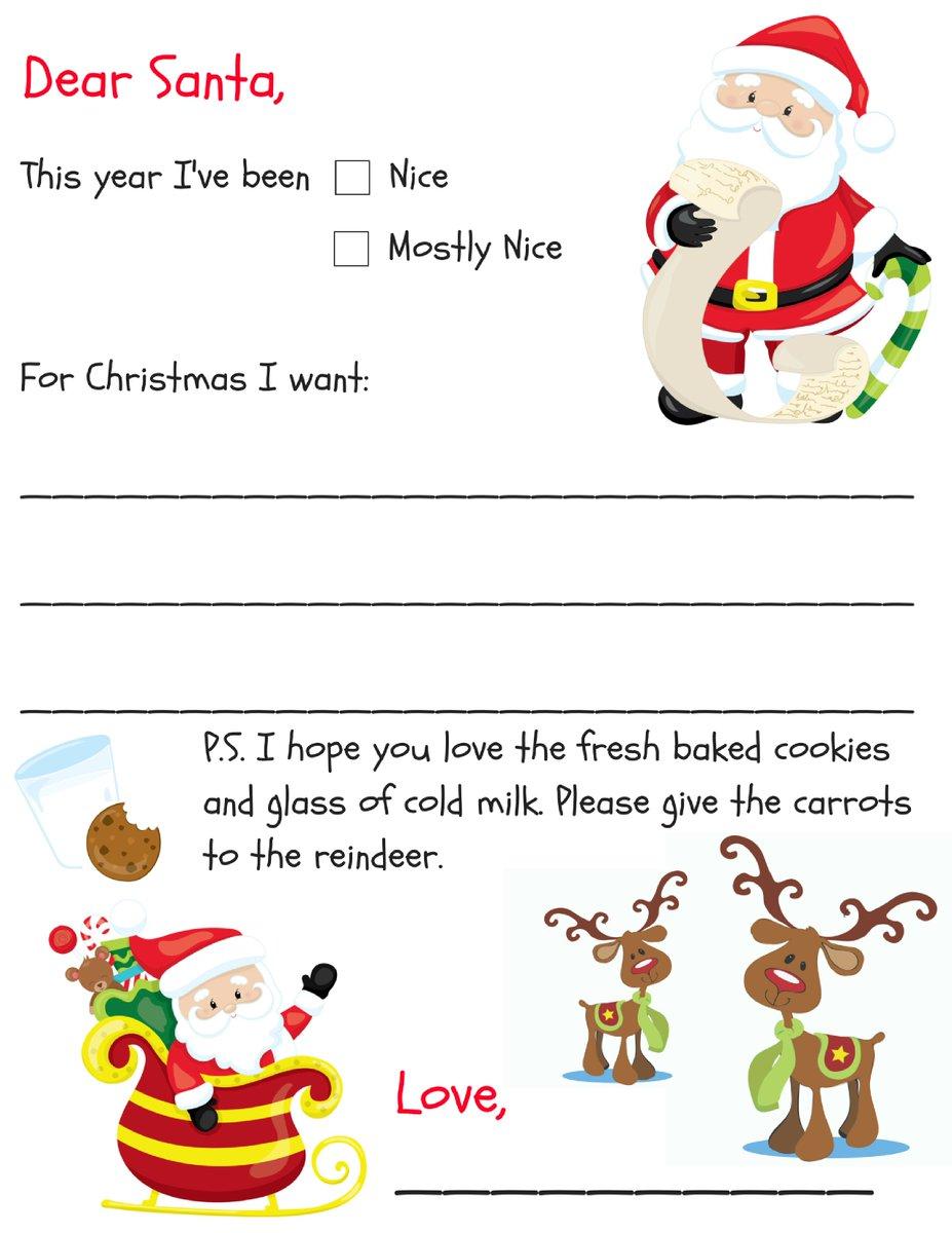 Danielle Isom On Twitter Free Printable Dear Santa Letter