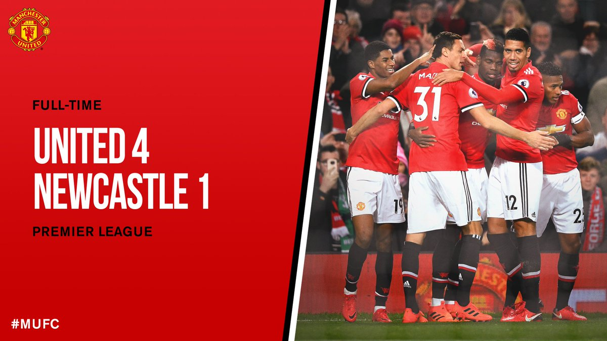 FT: #MUFC 4 Newcastle 1.   Four goals ⚽️ Three points ✅ Two players back from injury 💪 One great performance 👌