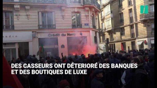 Les images de la 'marche sur l'Élysée', émaillée de dégradations https://t.co/WrKRsEuFAh