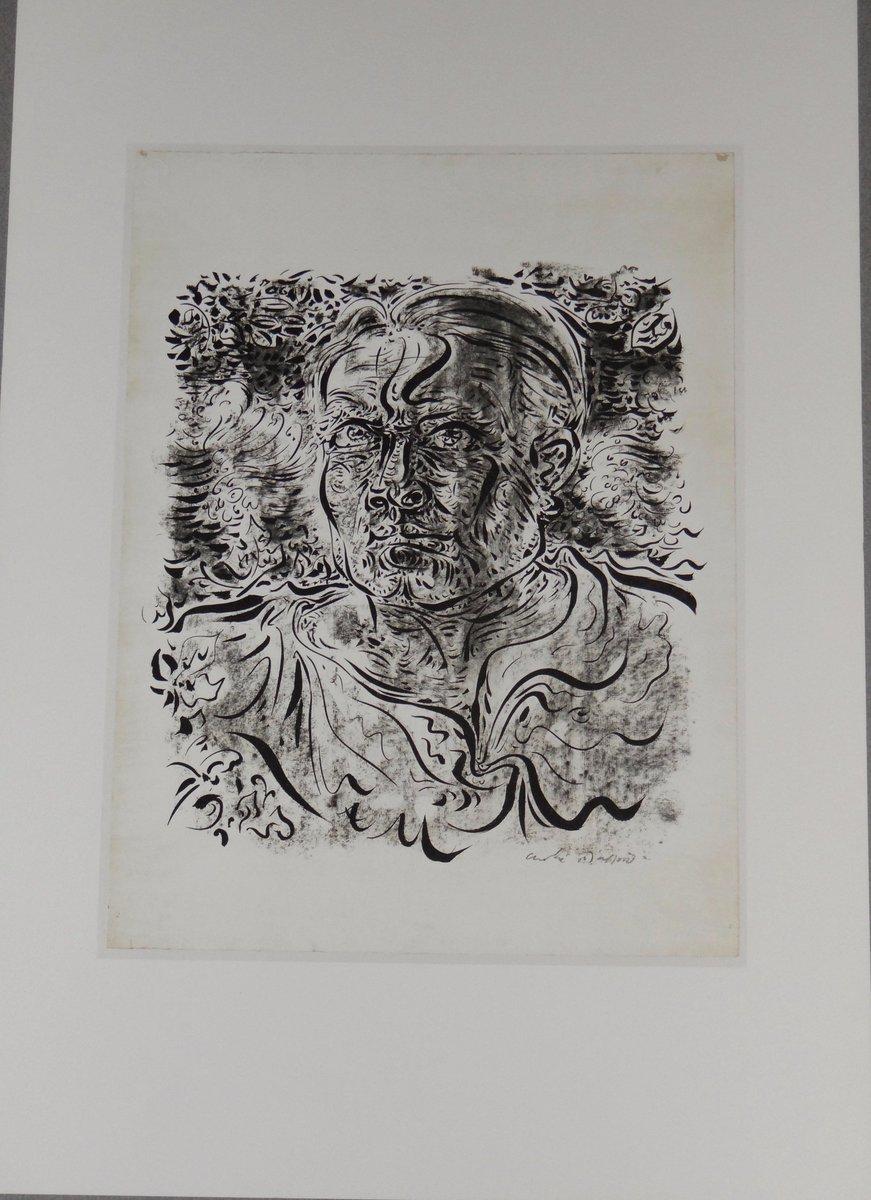 Andre Masson #SURREALISM self-portrait #vintage #etching  http:// etsy.me/2hJR84F  &nbsp;   @flyrts  #WomenInMotion  #atsocialmedia #bestofetsy #art #homedecor #TintegrityT #etsyspecialt #A4team<br>http://pic.twitter.com/2zI86YEnms