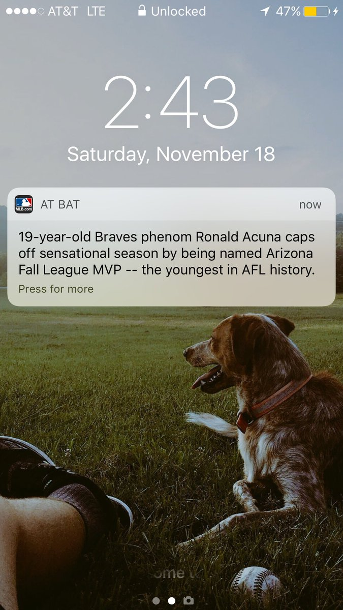 Can&#39;t wait to watch this dude in the Show! Our future is bright! @Braves  #MLB #Braves #AFL #MVP<br>http://pic.twitter.com/ZjO0Ddwh4s