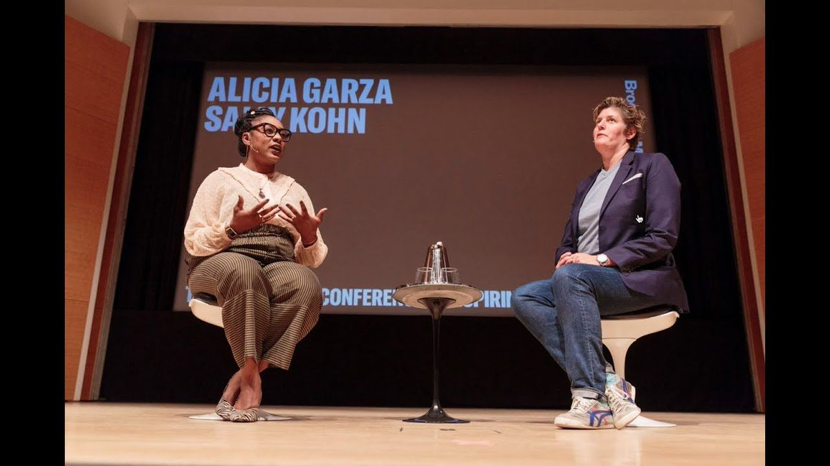 In case you missed it at The Brooklyn Conference: watch @CNN political commentator @sallykohn interview @aliciagarza, co-founder of #BlackLivesMatter , on systemic racism, the movement, rage, and hope.  http:// youtu.be/bCKCgPFYWlM  &nbsp;  <br>http://pic.twitter.com/1AqrONPSQX