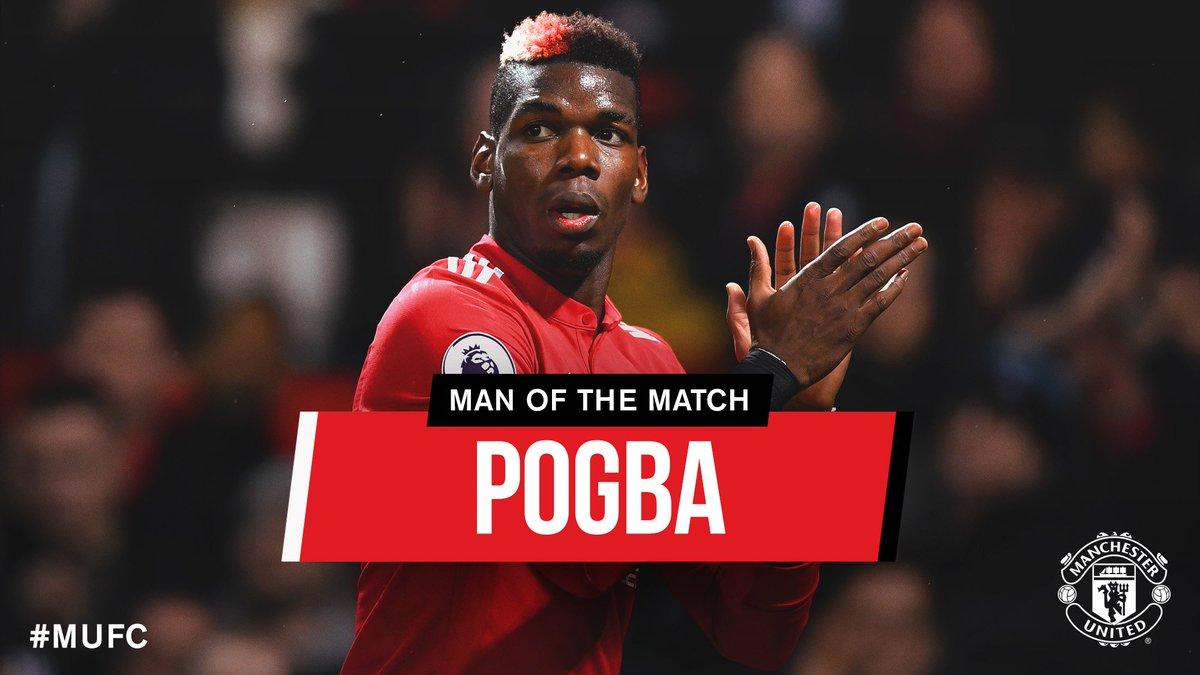 One goal and one assist means @PaulPogba is today's #MUFC Man of the Match - #Pogback in some style!