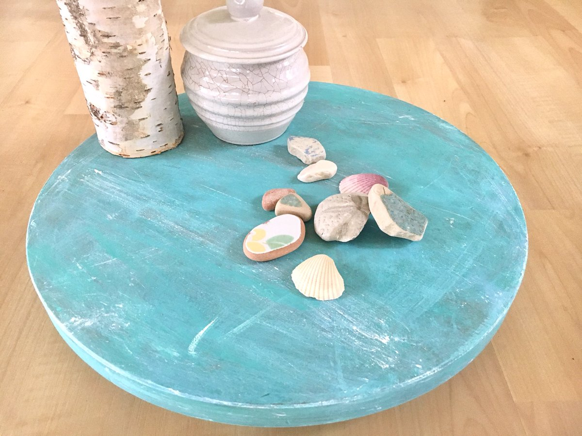 New in my shop, upcycled lazy Susan.  This was ugly brown, now it's oozing with charm.    https://www. etsy.com/listing/559411 692/ &nbsp; …  #lazysusan #chalkpaint #shabbychic #shabbydecor #upcycled #Handmade #beachdecor #beachlover #cottagedecor #moderncottage #rusticdecor<br>http://pic.twitter.com/zxkf3xdKHC