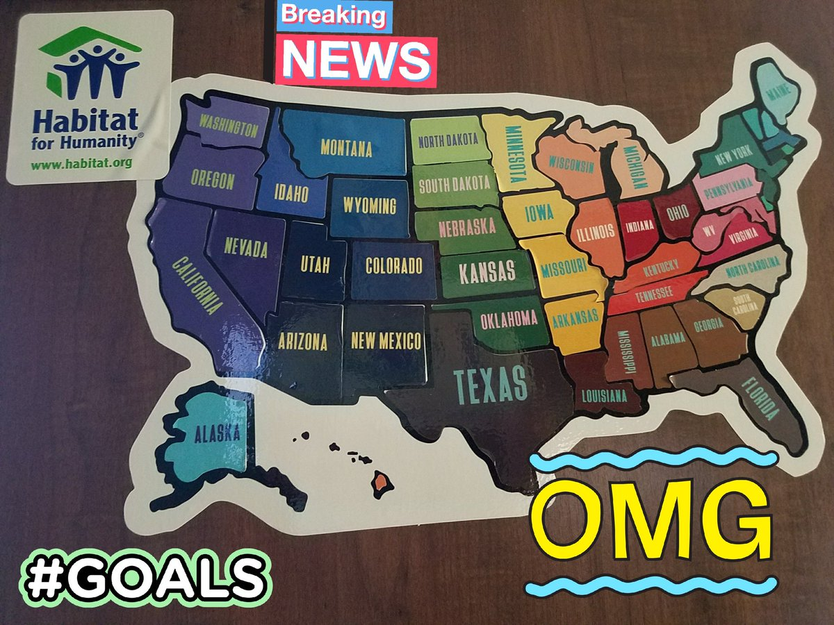 SUCCESS! 2017 @Habitat_org 50-state Quest Tally: 53 Affiliates, 60 Homes, 36 ReStores, 1,237 Hours Volunteered, 12,046 Miles point-to-point (+14k air miles).  2018 plan: 400 hours with my home affiliate @HabitatMonroeCo  and 400+ hours #GlobalVillage, #JCWP and #Care-A-Van.<br>http://pic.twitter.com/H3Kho01pBO