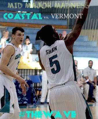 A Mid Major Matchup between Two of the Winningest Programs in the last 5 years. Its #Coastal vs. #Vermont at 5PM from @BahamasShowcase #TheWAVE   Watch Live -   http:// live.flohoops.com/#/event/3232-2  &nbsp;  … Coastal Brodcast -@CoastalMBB 4:45 G 105.5 FM / 1450 AM  https:// twitter.com/messages/media  &nbsp;  …<br>http://pic.twitter.com/grAyiK0lEs