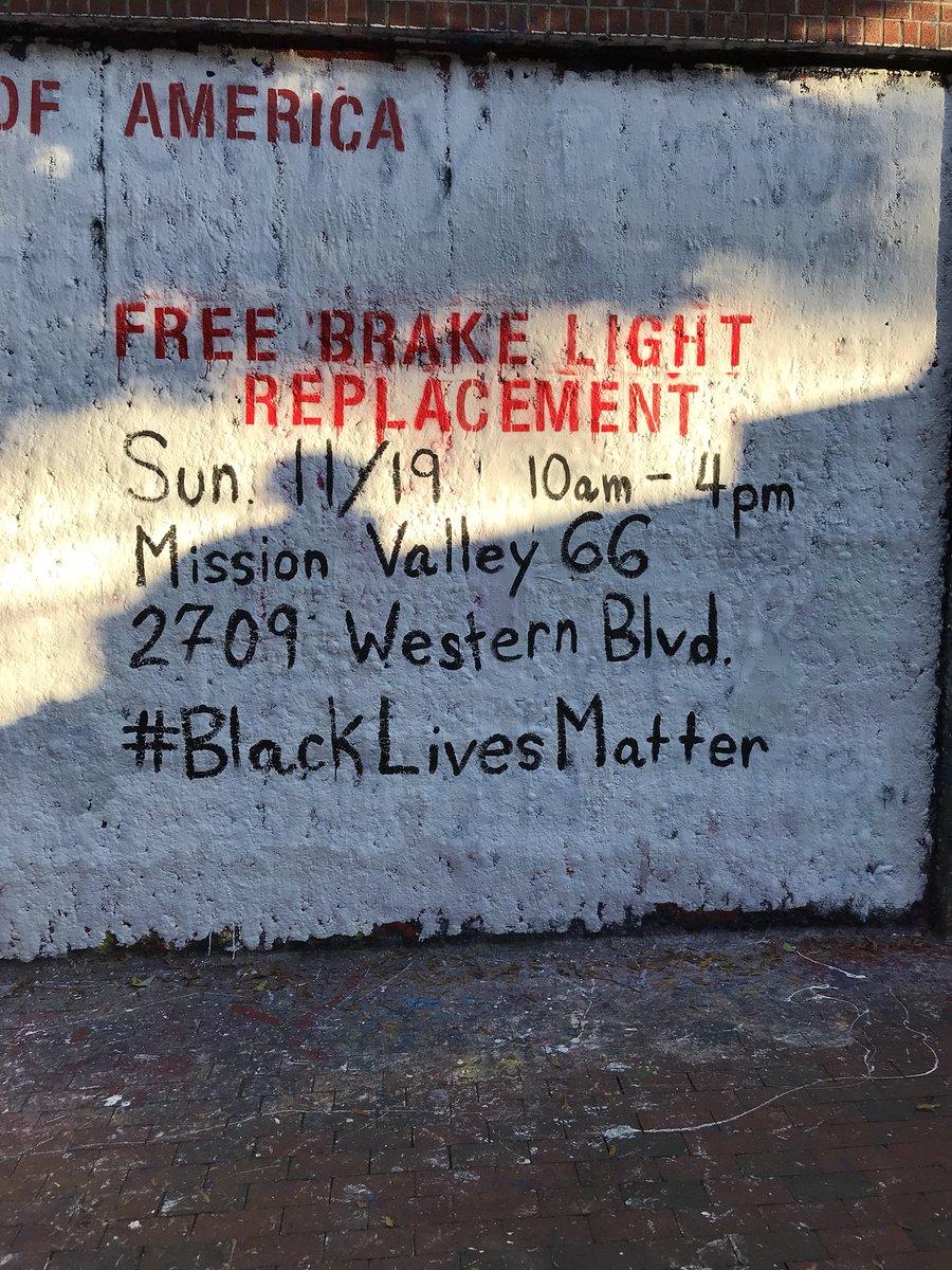 FREE BRAKE LIGHT REPLACEMENT TOMORROW 10AM-4PM #BLACKLIVESMATTER  <br>http://pic.twitter.com/bQtXV0DnNB