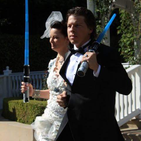 #Starwars you say? Yes..... the force is strong with us! This was on our  wedding day! 10/31/10 <br>http://pic.twitter.com/w6ykyiCD1g