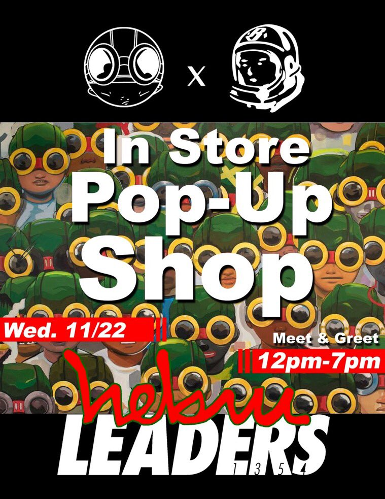 @bbcicecream X @HEBRUBRANTLEY Exclusive Collab Available at Leaders this Wednesday November 22nd. Only Spot in Chicago! Doors open at 12pm - 1152 W Madison #BBC #HebruBrantley #Chicago #Lead #NeverFollow #Leaders<br>http://pic.twitter.com/VOjcNxSMjL