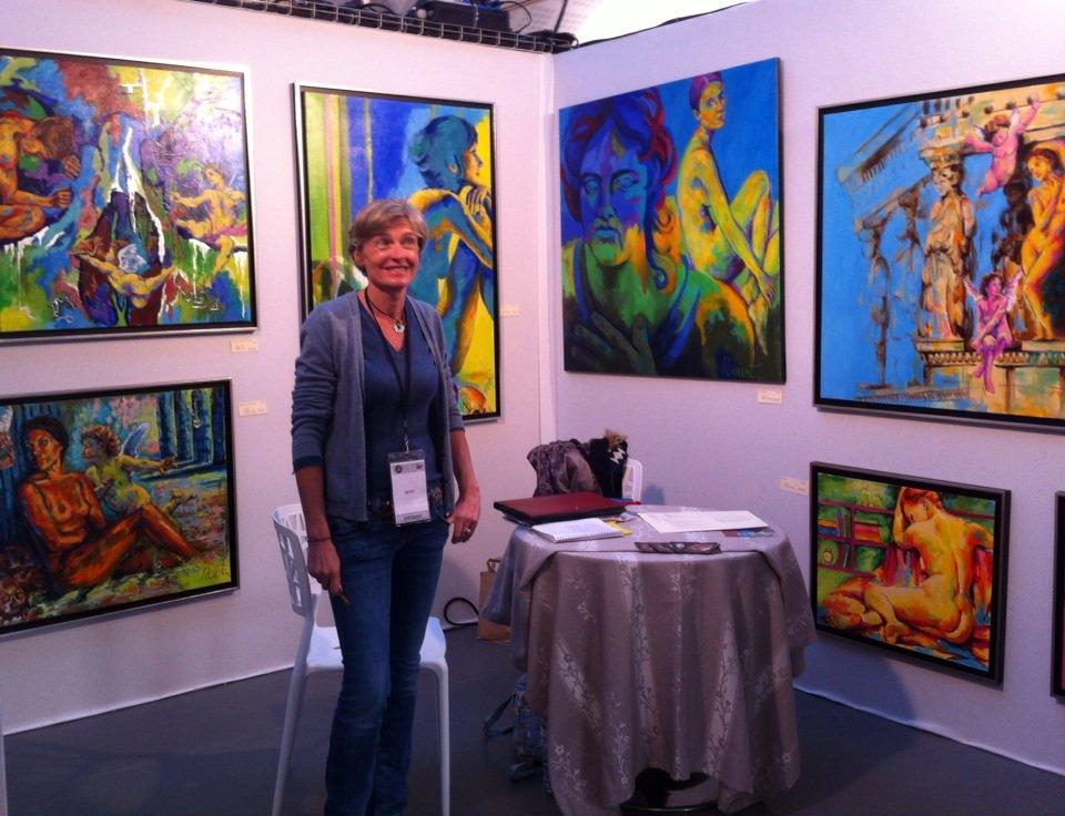 "Nadine Roland-Billecart - Artiste on Twitter: ""Aujourd'hui, au Salon ""Arts  Atlantic"" à la Rochelle.… """