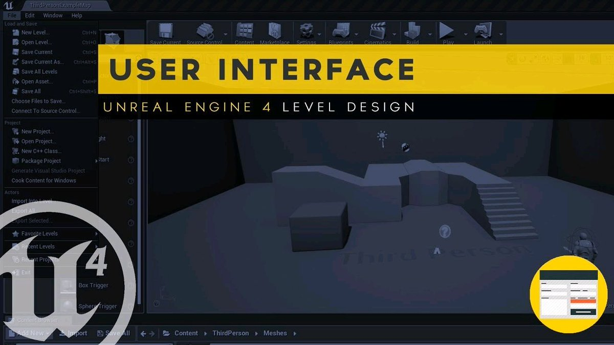 Watch &quot;User Interface Overview - #3 Unreal Engine 4 Level Design Essentials Tutorial Series&quot; on YouTube  https:// buff.ly/2zLxkEV  &nbsp;   #gamedev #ue4 <br>http://pic.twitter.com/T8eeeCrQfV