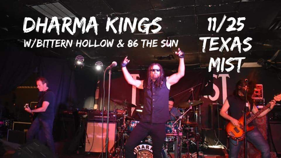 Catch us at @TexasMistLmv on the 25th!! We&#39;ll be rocking with #BitternHollow &amp; @86TheSun!! This is going to be an amazing night!!  #atxmusic #localmusic #kings #freeparking #SupportLocalRock  ##indiemusic #musicians <br>http://pic.twitter.com/4Z3PUCYWxf