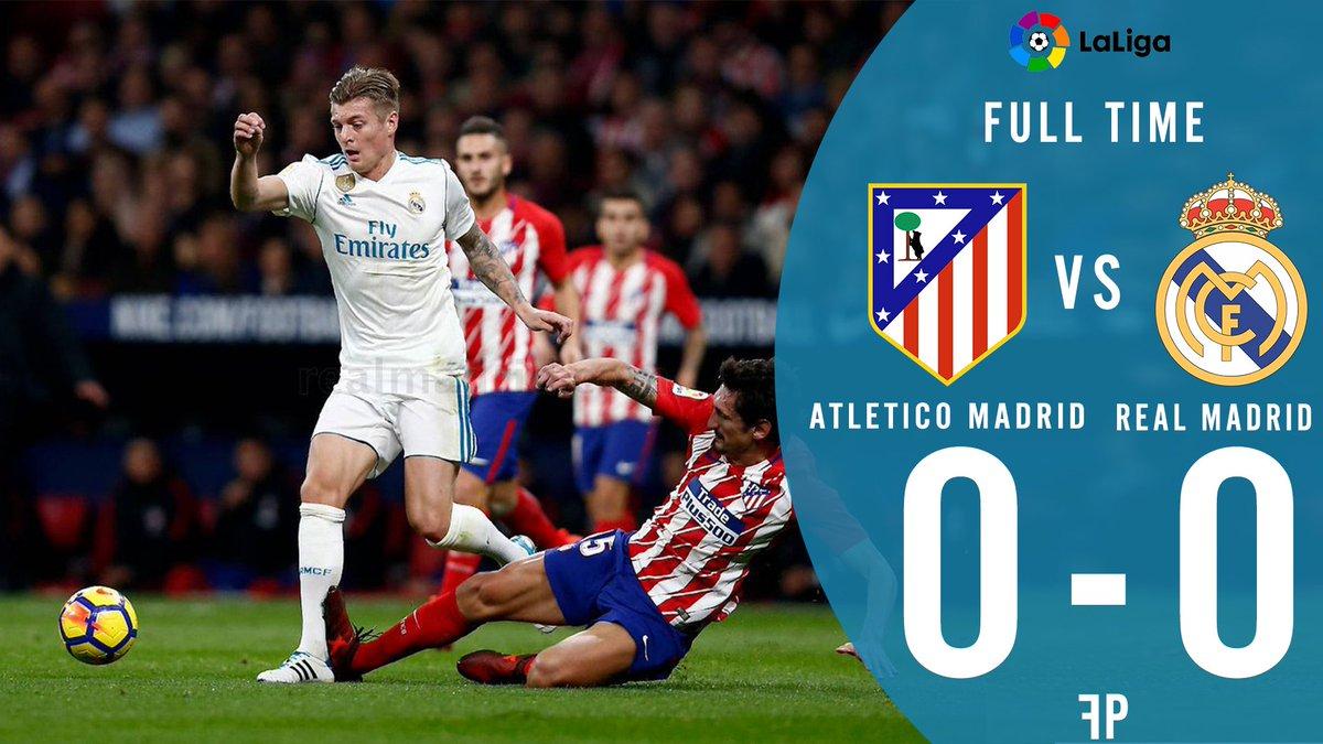 Derby Madrid end up with no goals   #AtletiRealMadrid #AtletiReal  #ATLRM <br>http://pic.twitter.com/bYtlHTfCWg