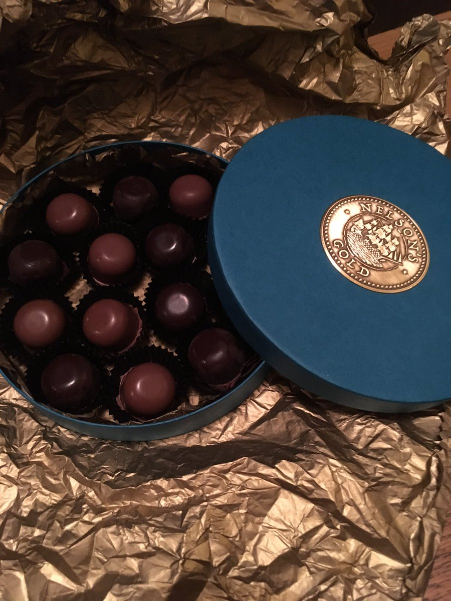 And here they are 7 milk &amp; 7 dark chocolates #handmade with centres infused with #Nelsonsgold. Available very soon @JarroldsNorwich <br>http://pic.twitter.com/bOIKJaaZOm