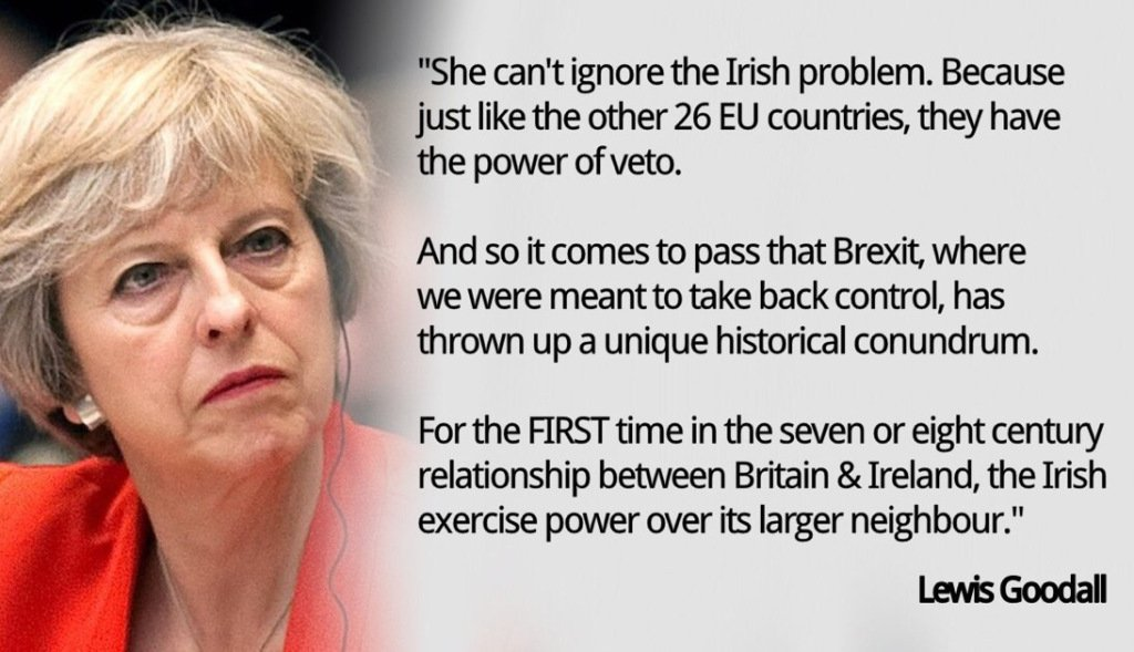 No longer can Theresa May or UKGov ignore Ireland. #Brexit is the antithesis of progress.