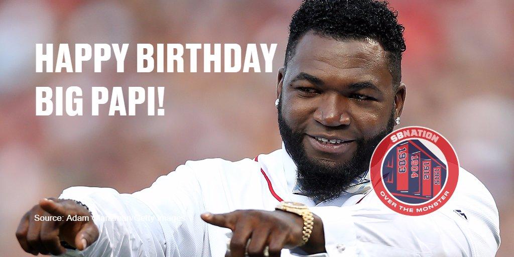 Happy Birthday to the greatest DH: David Ortiz!