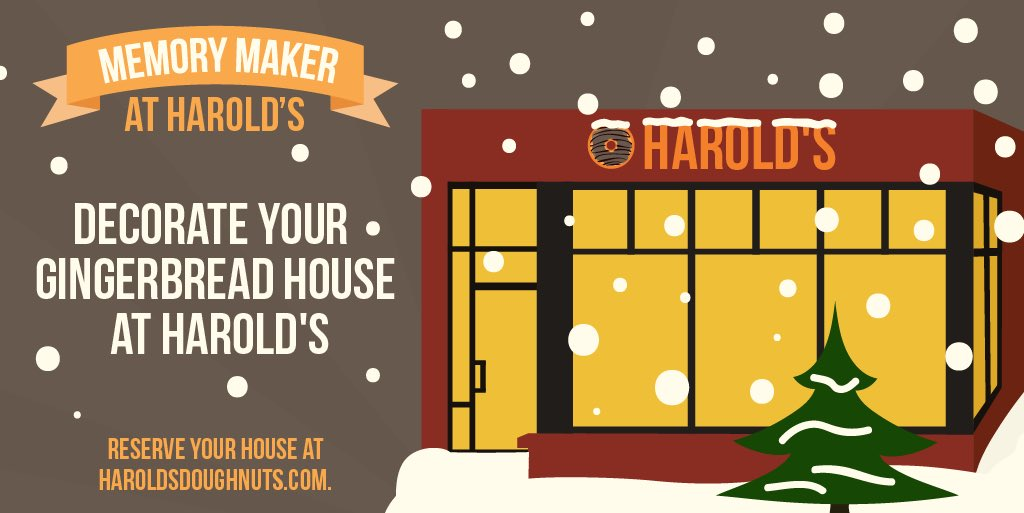 harolds doughnuts on twitter its gonna be the hap hap happiest christmas since bing crosby tap danced with danny kaye join us this holiday season at - Hap Hap Happiest Christmas