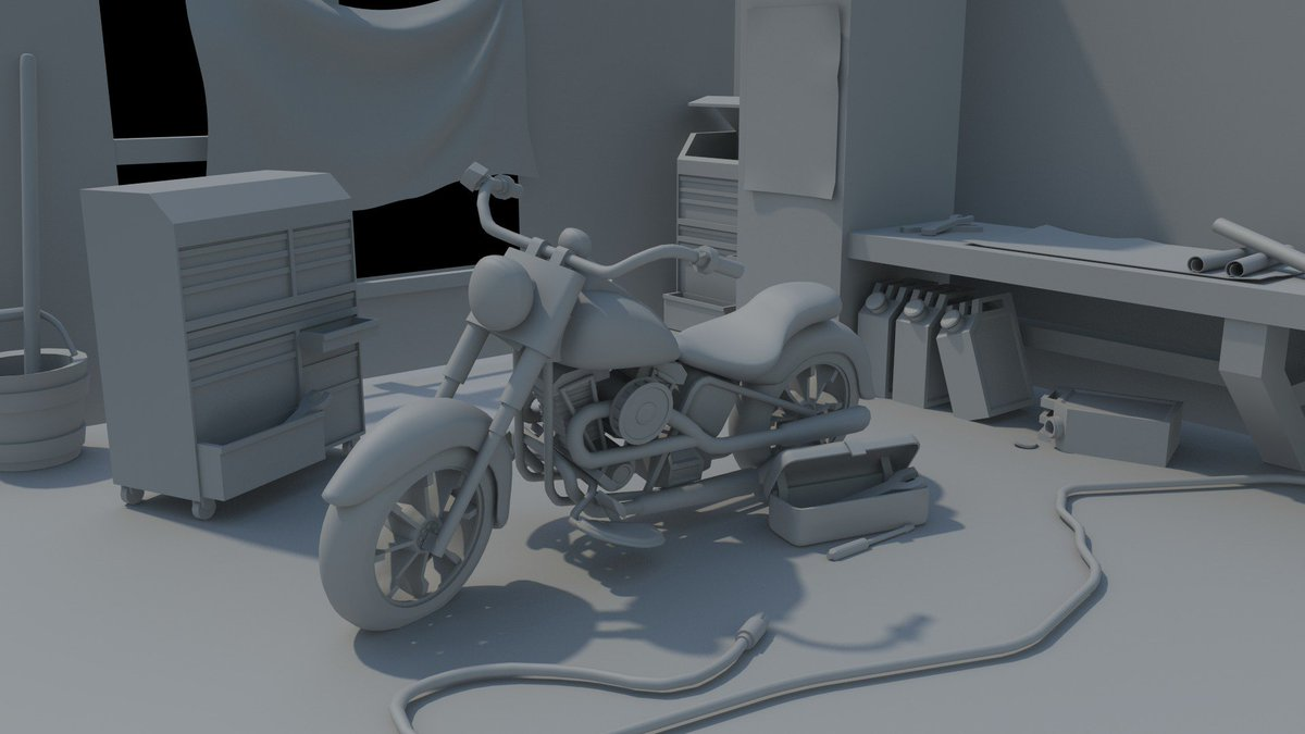 Remastered Harley Davidson, took advice from @d3tLtd they were a huge help! @CGDPriestley @iaingoodyear #indiedev #gamedev #3dsMax #motorcycle #harleydavidson #render #scene #aheadofthegame #thisissuccess #iamgreat #student #ineedalife<br>http://pic.twitter.com/XizgaQThLg