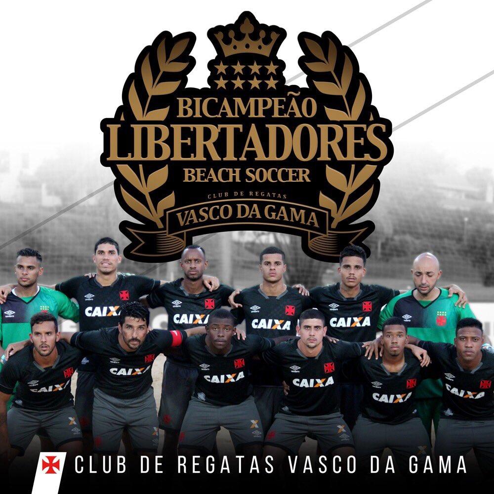 O VASCO É BICAMPEÃO DA LIBERTADORES DE BEACH SOCCER! 💢🏆O Gigante venceu o Malvín(URU) por 8x5 e conquistou o título pelo 2º ano consecutivo!
