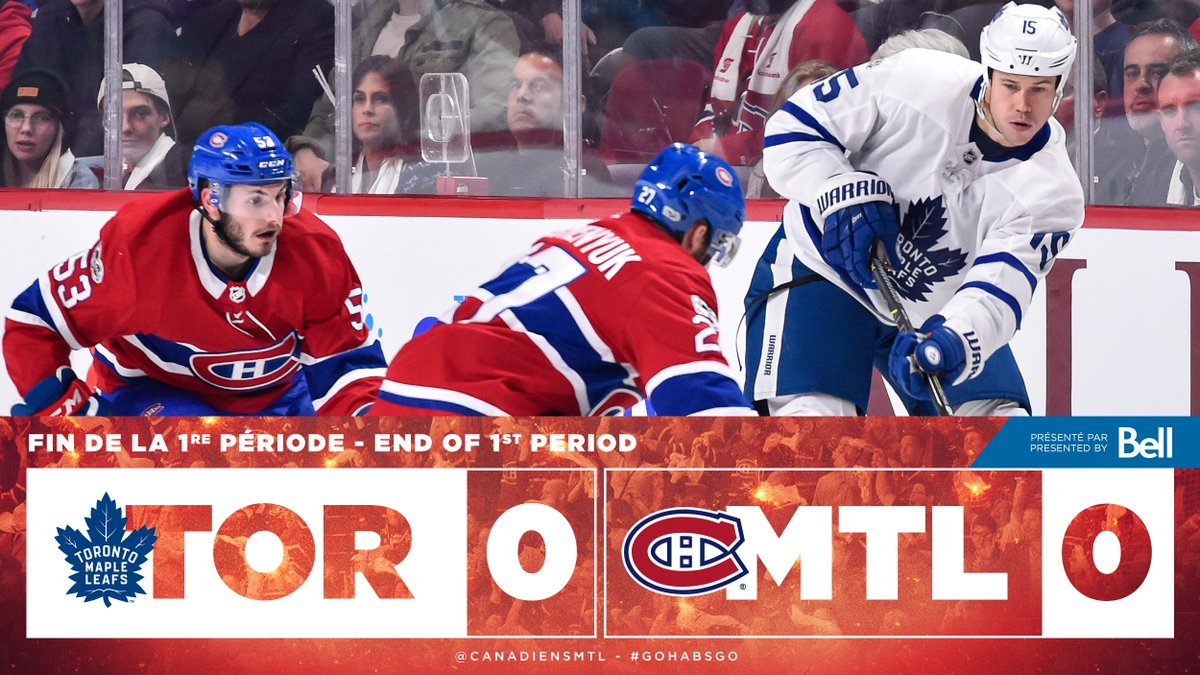 Une première période sans but mais enlevante! / An exciting - yet scoreless - first period! #GoHab