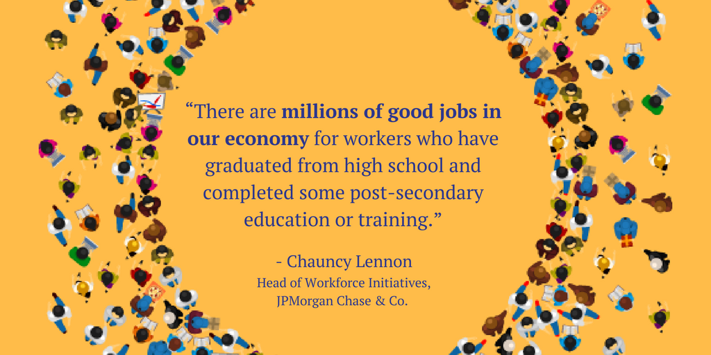 "test Twitter Media - ""There are millions of good jobs in our economy for workers who have graduated from high school and completed some post-secondary education or training."" - @ChauncyLennon @jpmorgan  https://t.co/qg97Ifo3UM #GoodJobsData https://t.co/vVNlRD8WYq"
