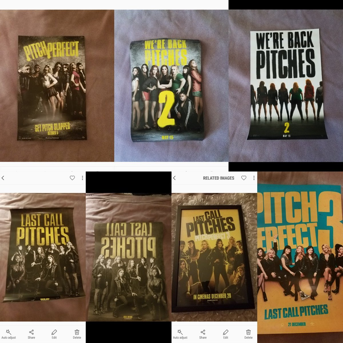 Unless they come out with more... My #PP #PP2 #PP3 poster collection is complete Pitches! @AnnaKendrick47 @Brittanysnow @TheRealAnnaCamp @RebelWilson @EsterDean @hanamaelee @HaileeSteinfeld @chrissiefit @AlexisKnapp @ShelleyRegner @kelleyjakle<br>http://pic.twitter.com/z528XrVMpS