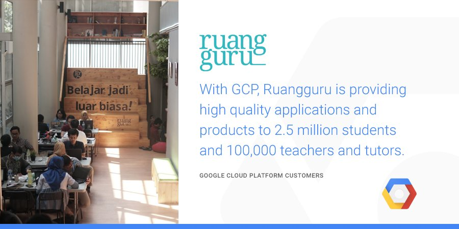 Learn how @ruangguru uses #GCP to deliver a range of applications that streamline & enhance the delivery of education services in Indonesia → https://t.co/k6yonZ6gnT