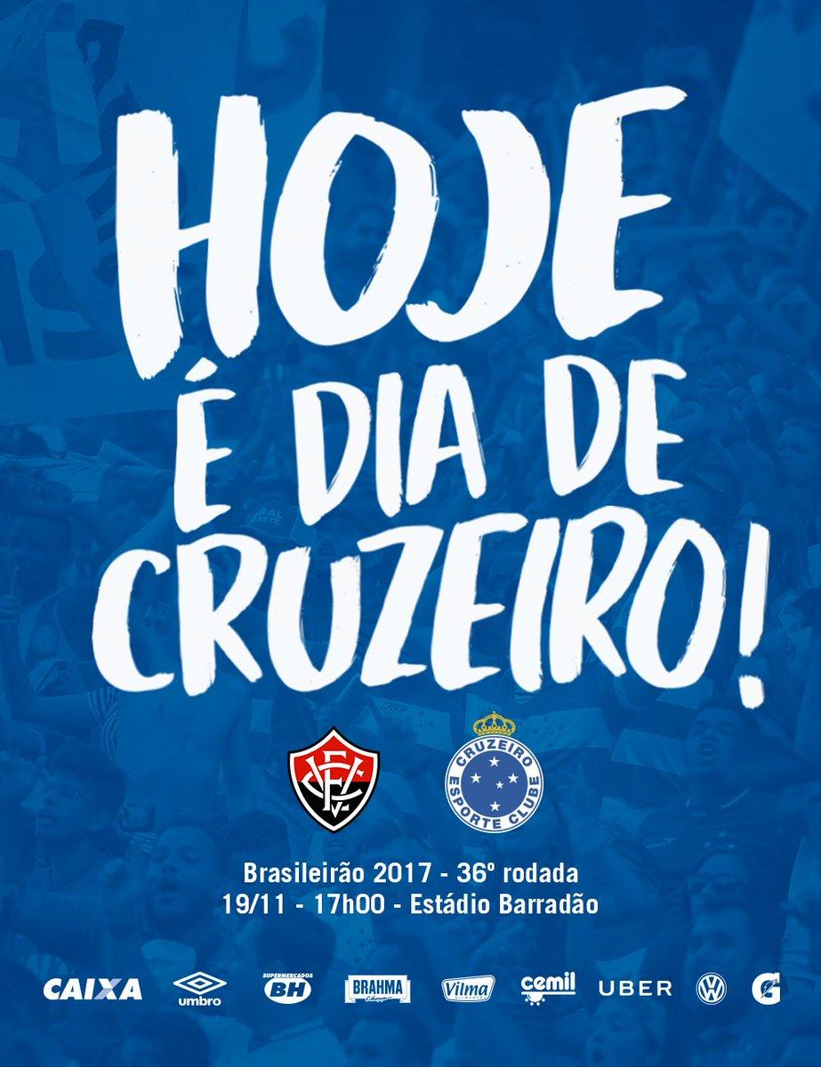 Hoje tem #Cruzeiro em campo para buscar mais três pontos! VAMOS JUNTOS, NAÇÃO AZUL! #HojeÉDiaDeCruzeiro 🔵⚪️🦊
